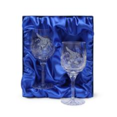 Pegasus Red Wine Glasses (Pair) In Gift Box