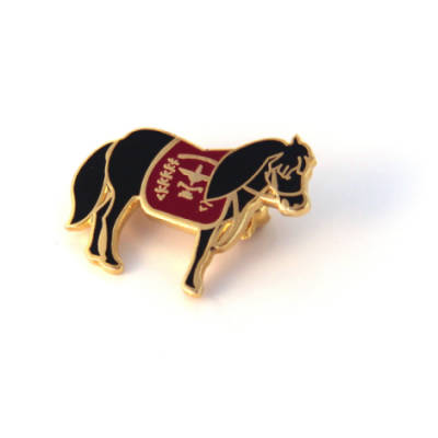 Regimental Mascot Pony Lapel Badge (Brooch Fitting)