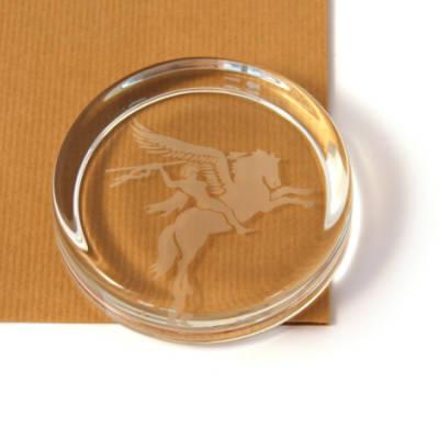 Pegasus Paperweight (Round)