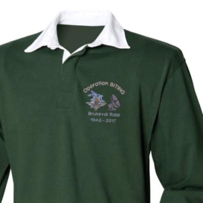 Rugby Shirt - Green - Bruneval Raid (Operation Biting) 75th