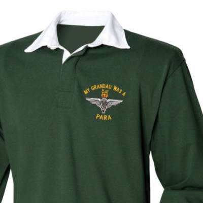 Rugby Shirt - Green - My Grandad Was A Para (Para)