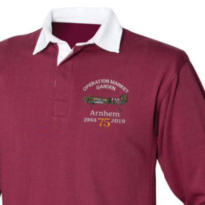 Rugby Shirt - Maroon - Arnhem Dakota 75th