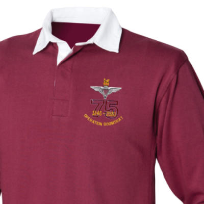 Rugby Shirt - Maroon - Operation Doomsday 75th (Para)