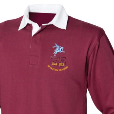 Rugby Shirt - Maroon - Operation Dragoon 75th (Pegasus)