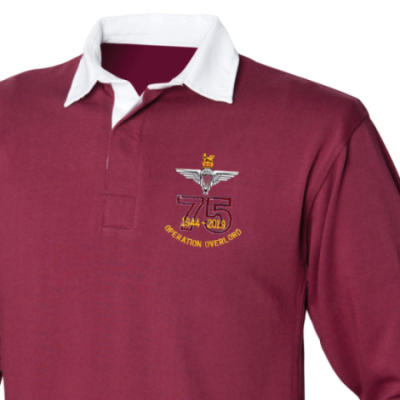 Rugby Shirt - Maroon - Operation Overlord 75th (Para)