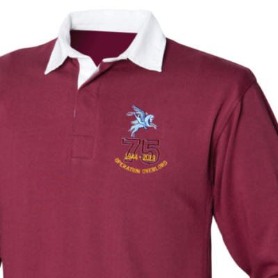 Rugby Shirt - Maroon - Operation Overlord 75th (Pegasus)