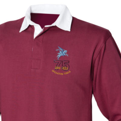 Rugby Shirt - Maroon - Operation Tonga 75th (Pegasus)