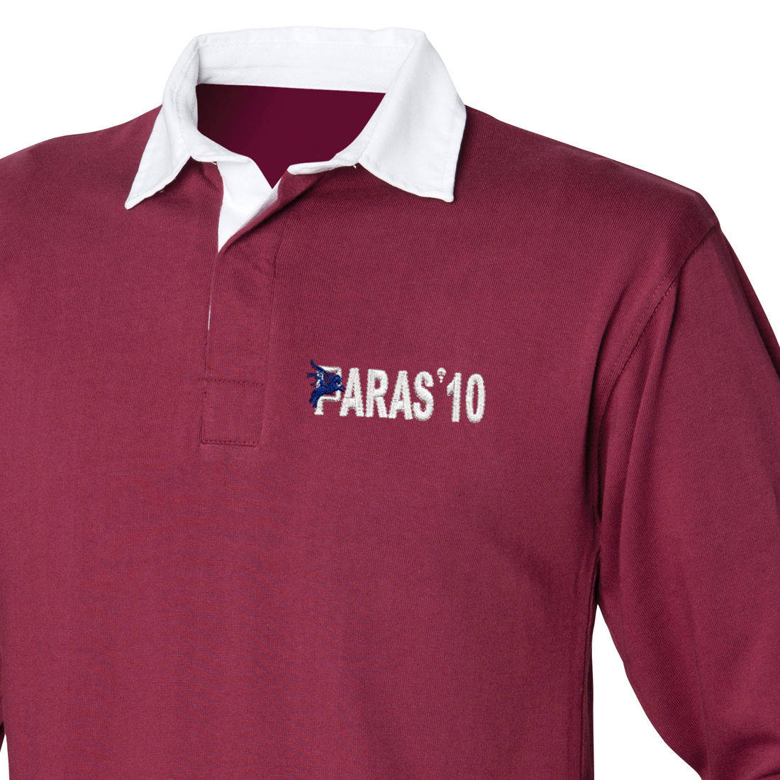 Rugby Shirt - Maroon - Paras 10