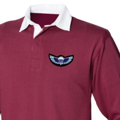 Rugby Shirt - Maroon - Sabre Wings