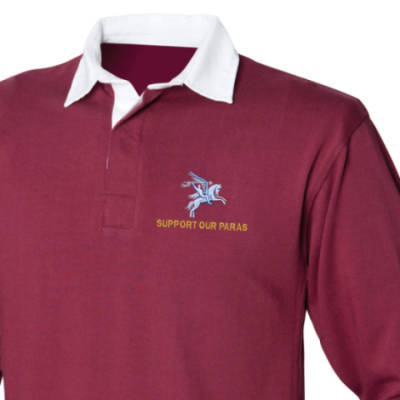 Rugby Shirt - Maroon - Support Our Paras (Pegasus)