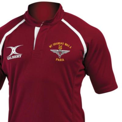 Rugby Shirt (Gilbert Branded) - Maroon - My Grandad Was A Para (Para)