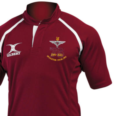 Rugby Shirt (Gilbert Branded) - Maroon - Operation Overlord 75th (Para)