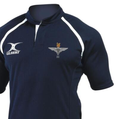 *CLEARANCE* Rugby Shirt (Gilbert Branded), Large, Navy, 2 Para Cap-Badge