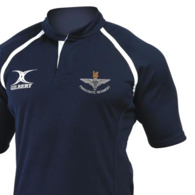 *CLEARANCE* Rugby Shirt (Gilbert Branded), XL, Navy, Para Cap-Badge