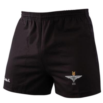 *CLEARANCE* Rugby Shorts, XS, Black, 3 Para Cap-Badge