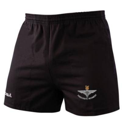 *CLEARANCE* Rugby Shorts, XS, Black, Para Cap-Badge