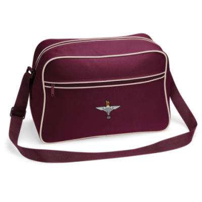 Retro Shoulder Bag - Maroon - 3 Para Cap-Badge (Print)