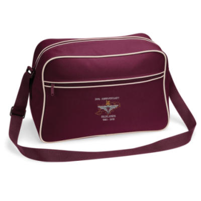 Retro Shoulder Bag - Maroon - Falklands 30th