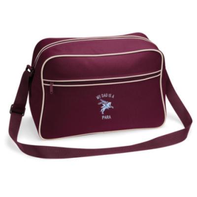 Retro Shoulder Bag - Maroon - My Dad Is A Para (Pegasus)