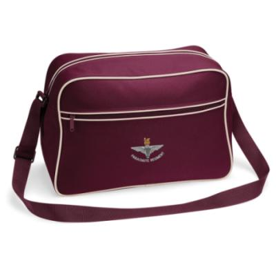Retro Shoulder Bag - Maroon, Para Cap-Badge