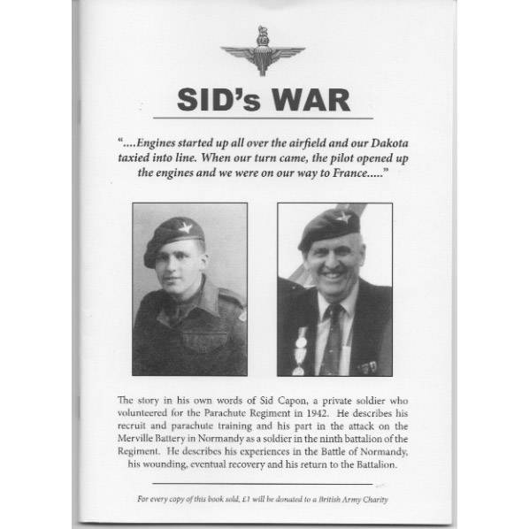 Sid Capon's War by Sid Capon and Major Michael Strong (Book)