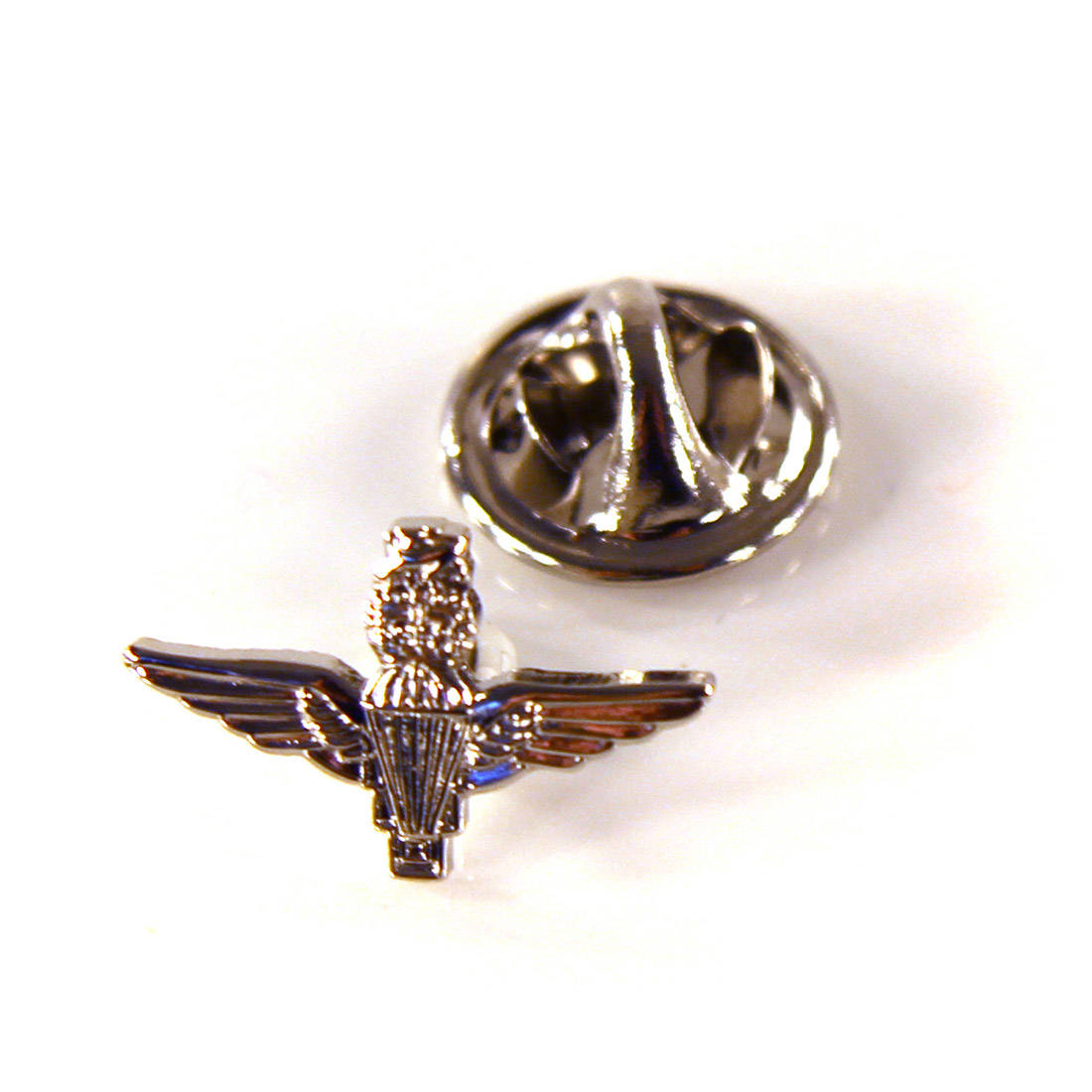 Small Nickel Para Lapel Badge