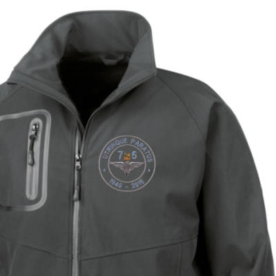 Softshell Jacket - Black - Airborne 75 (Para)