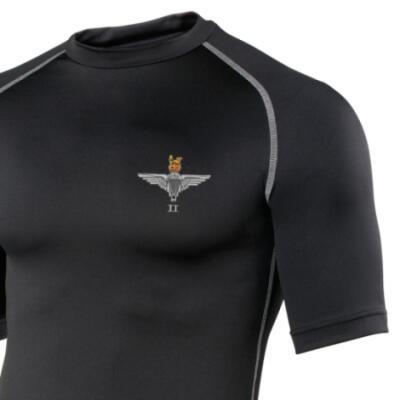 *CLEARANCE* Short Sleeved Rash Top, S/M, Black, 2 Para Cap-Badge