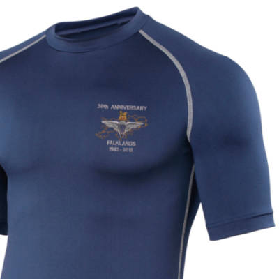 Short Sleeved Rash Top - Navy - Falklands 30th