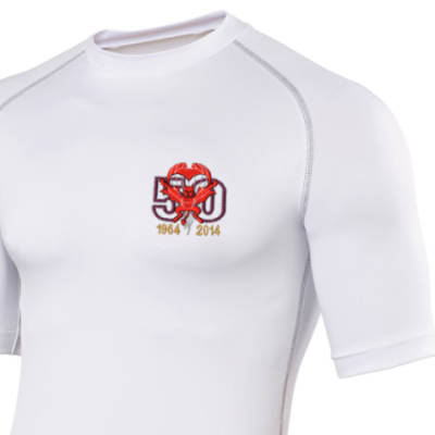 Short Sleeved Rash Top - White - Red Devils 50th