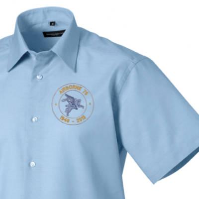 Short Sleeved Shirt - Oxford Blue - Airborne 75 (Pegasus)