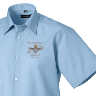 Short Sleeved Shirt - Oxford Blue - Falklands 30th