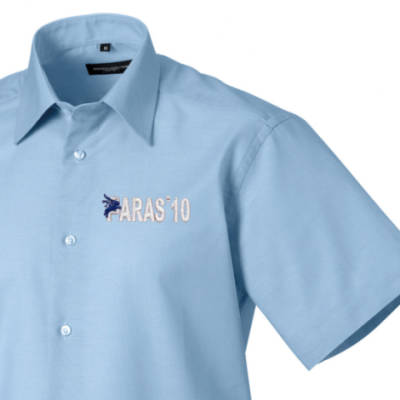 Short Sleeved Shirt - Oxford Blue - Paras 10