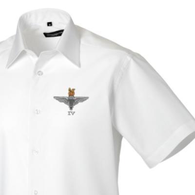 *CLEARANCE* Short Sleeved Shirt, 17, White, 4 Para Cap-Badge