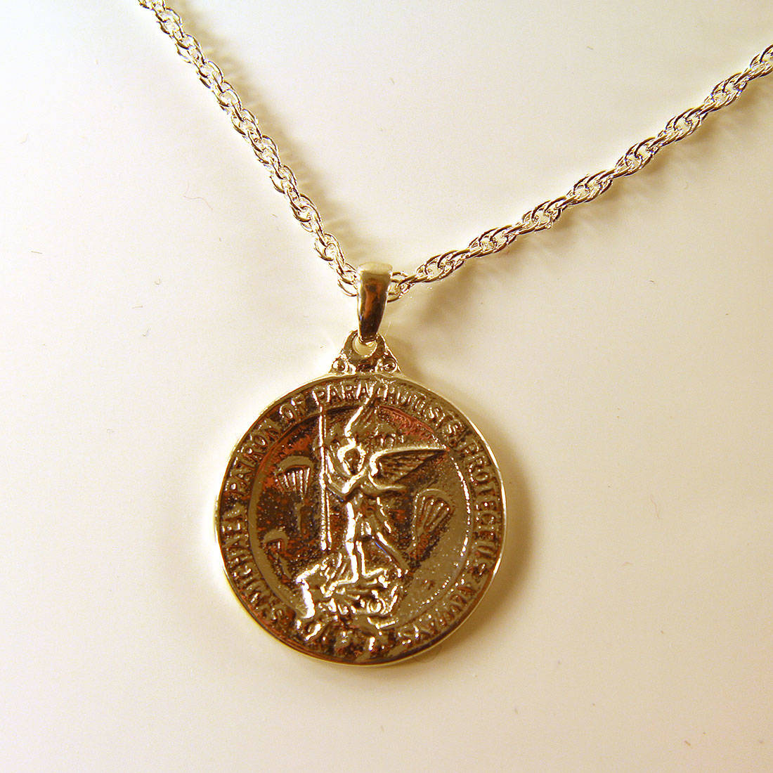 Sterling Silver St Michaels Medallion