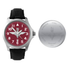 Stainless Steel Para Watch with Fabric and Leather Strap