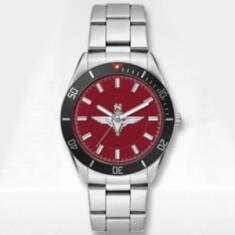 Stainless Steel Para Watch with Silvered Metal Bracelet (Updated Design)