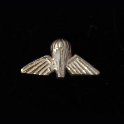 Sterling Silver Jump Wings Lapel Pin