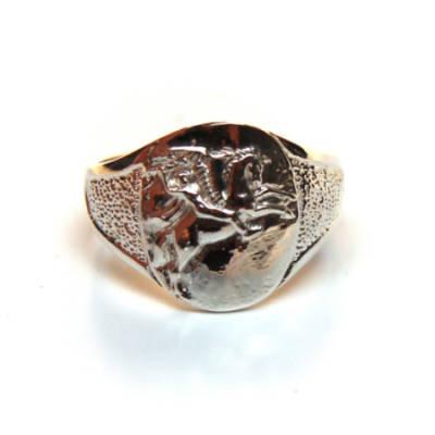Sterling Silver Round Pegasus Ring (18)