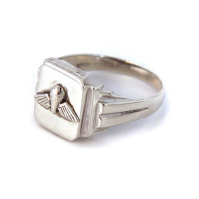 Sterling Silver Square Jump Wings Ring (2)