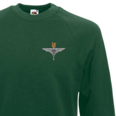 Sweatshirt - Green - 1 Para Cap-Badge