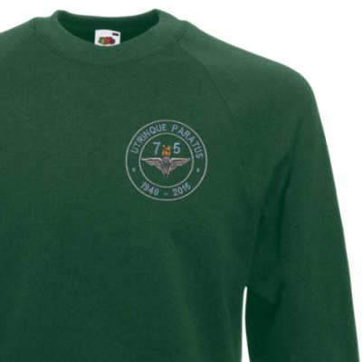 Sweatshirt - Green - Airborne 75 (Para)