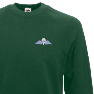 *CLEARANCE* Sweatshirt, Large, Green, Jump Wings