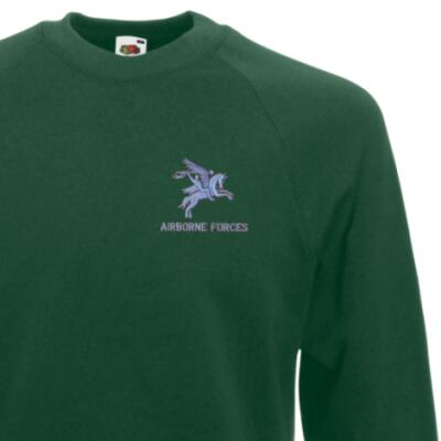 *CLEARANCE* Sweatshirt, XL, Green, Pegasus Airborne Forces
