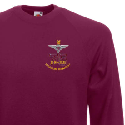 Sweatshirt - Maroon - Operation Doomsday 75th (Para)