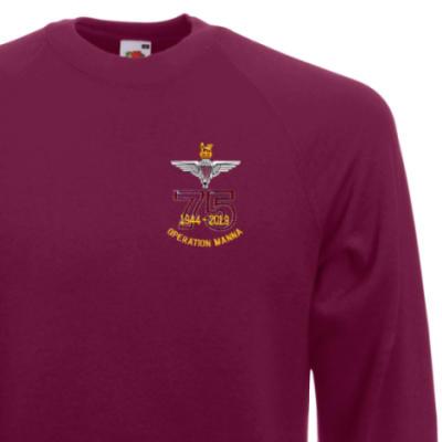 Sweatshirt - Maroon - Operation Manna 75th (Para)
