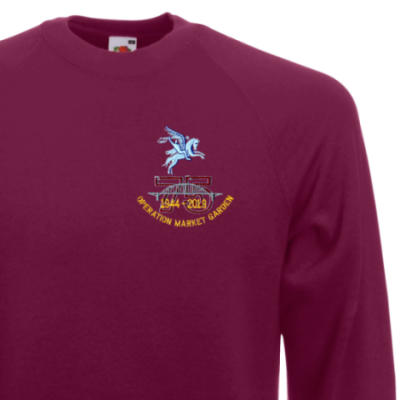 Sweatshirt - Maroon - Operation Market Garden 75th (Pegasus)