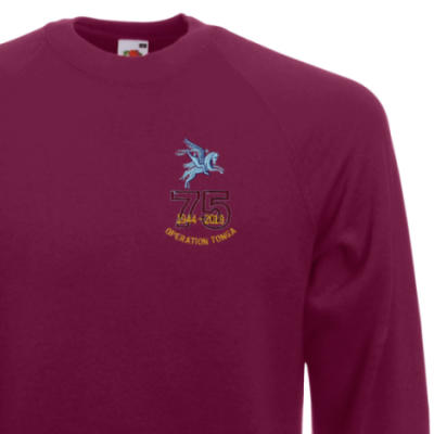 Sweatshirt - Maroon - Operation Tonga 75th (Pegasus)