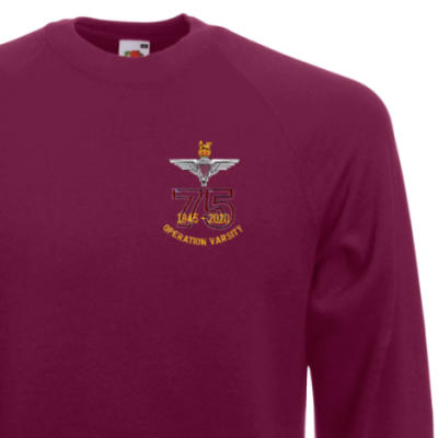 Sweatshirt - Maroon - Operation Varsity 75th (Para)