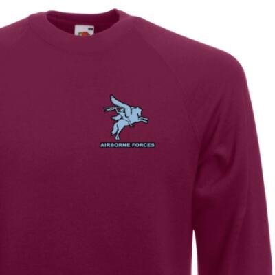 *CLEARANCE* Sweatshirt, Large, Maroon, Pegasus Airborne Forces (Print)